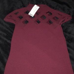 Berry Boohoo Dress size 6 NWT